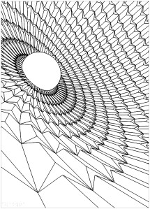 adult colouring sheet pdf mindfulness psychedelic geometrical pattern
