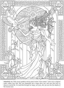 Free Mindfulness Colouring Sheets Celtic Goddess
