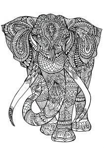 Mindfulness Colouring Free Pdf Elephant