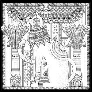 Mindfulness Colouring Sheet Pdf Egyptian Cat