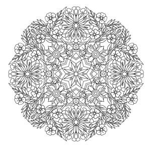 mindfulness colouring sheet pdf mandala flowers difficult