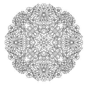 Mindfulness Colouring Sheet Pdf Mandala Flowers Difficult