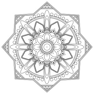 mindfulness colouring sheets pdf mandala octagon