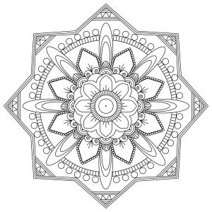 Mindfulness Colouring Sheets Pdf Mandala Octagon