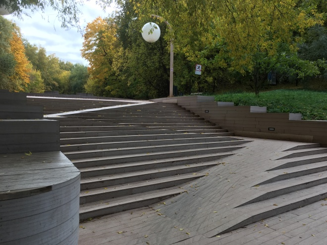 stairs a feat of Russian engineering